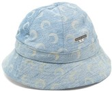 Marine Serre Crescent-print Cotton-denim Bucket Hat - Womens - Blue Print