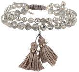 Chan Luu Holiday Swarovski Pearl, Crystal & Gray Quartz Bracelet