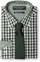 Graham And Co Graham & Co. 2 Color Gingham Dress Shirt And Tie
