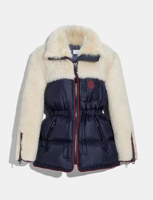 Coach Shearling Puffer Coat