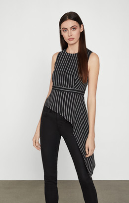 BCBGMAXAZRIA Stripe Twill Top