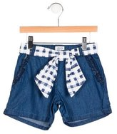Armani Junior Girls' Chambray Tie-Accented Shorts w/ Tags