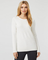 Le Château Textured Knit Crew Neck Sweater