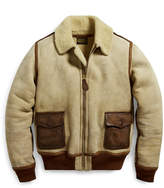 Ralph Lauren Leather-Trim Shearling Jacket