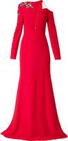 Antonio Berardi embellished asymmetric gown - women - Spandex/Elastane/Rayon - 42