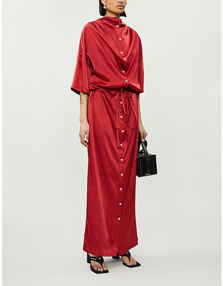 Y/Project Infinity double-layered satin maxi dress