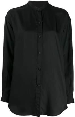 Alberto Biani band-collar long-length blouse