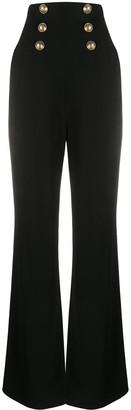 Balmain High Waist Corset Trousers