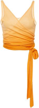 Jonathan Simkhai Ombre Cashmere Wrap Top