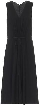 Vince Linen-blend midi dress