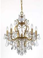 Crystorama 4455-Ga-Cl-Mwp Filmore 6 Light Crystal Gold Chandelier I