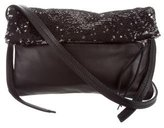 Maje Sequin-Embellished Leather Crossbody Bag w/ Tags