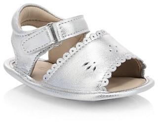 Elephantito Baby Girl's Scallop Metallic Leather Sandals
