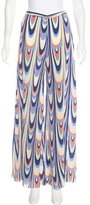 M Missoni Silk High-Rise Pants