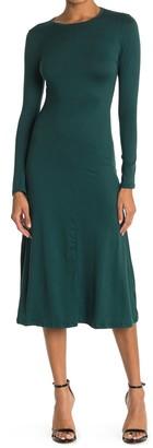 Velvet Torch Long Sleeve Midi Dress