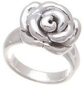 Lord & Taylor Sterling Silver Oxidized Rose Ring
