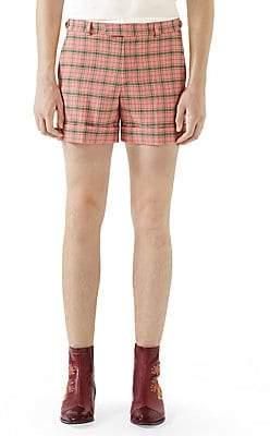 Gucci Men's Wool Check Shorts
