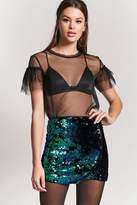 Forever 21 Velvet Camo Sequin Mini Skirt