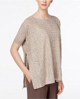 Eileen Fisher Linen Side-Split Sweater, Regular & Petite