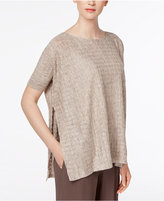 Eileen Fisher Linen Side-Split Top, Regular & Petite