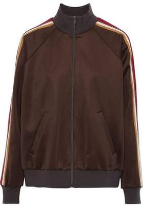 Marc Jacobs Striped Satin-crepe Track Jacket