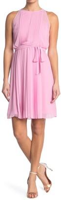 Diane von Furstenberg Sleeveless Pleated Chiffon Dress