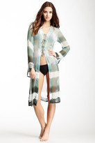 Letarte Long Sheer Tie-Up Silk Tunic
