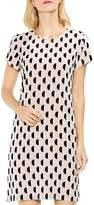Vince Camuto Graphic Dot Clip Jacquard Shift Dress