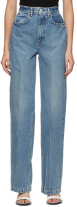Alexander Wang Blue High Waist Trouser Jeans