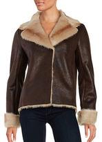Vince Camuto Faux Fur-Trimmed Jacket