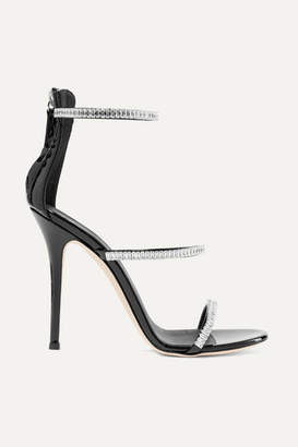 Giuseppe Zanotti Harmony Crystal-embellished Patent-leather Sandals - Black