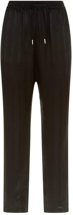 Alexander Wang Striped Logo Silk Sweatpants