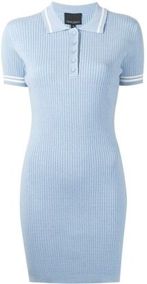 Cynthia Rowley Ribbed Polo Short-Sleeve Dress