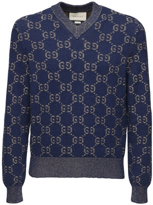 Gucci Gg Cotton Jacquard Knit Sweater