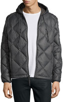 Andrew Marc Appleton Quilted Puffer Hooded Jacket, Fog Gray