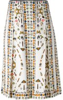 Alexander McQueen Obsession print skirt - women - Viscose/Cotton/Silk - 40