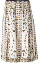 Alexander McQueen Obsession print skirt