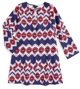Oscar de la Renta Girl's Ikat Caftan Dress