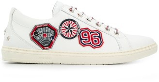 Jimmy Choo Cash patch embellished sneakers