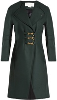 Esteban Cortazar Raw-edged felt coat