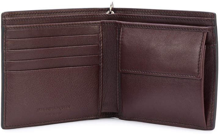 Alexander McQueen studded wallet with chain detail