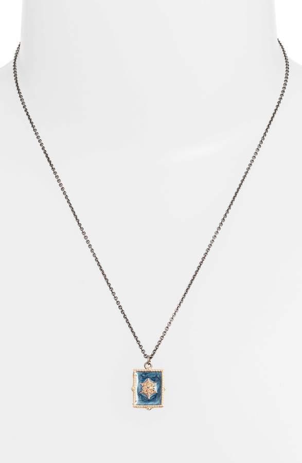 Armenta New World Starbust Diamond Pendant Necklace