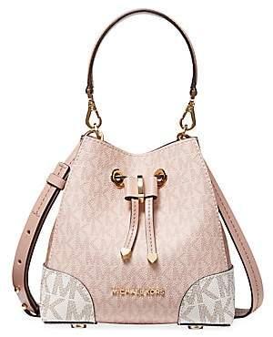 Michael Kors Women's Mercer Gallery Extra-Small Convertible Leather Bucket Crossbody Bag