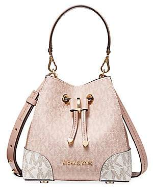 Michael Kors Women's Mercer Gallery Extra-Small Convertible Leather Bucket Crossbody Bag
