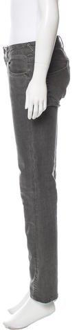 Alexander McQueen Mid-Rise Straight-Leg Jeans