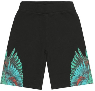 Marcelo Burlon Kids Of Milan Printed cotton-blend shorts
