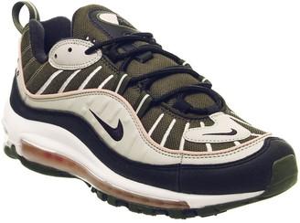 Nike 98 Trainers Cargo Khaki Black Desert Sand Bleached Coral