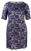 Vince Camuto Women's Elbow Sleeve Lace Dress (14, Navy)