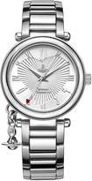 Vivienne Westwood Orb Women's Quartz Watch with Silver Dial Analogue Display and Silver Stainless Steel Bracelet VV006SL