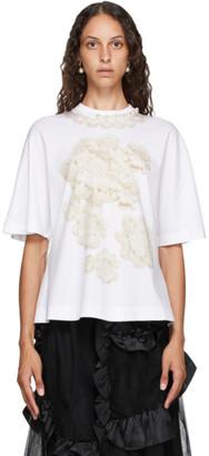 Simone Rocha White Pearl T-Shirt